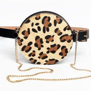 Round Fanny Pack Cheetah Waist Purse